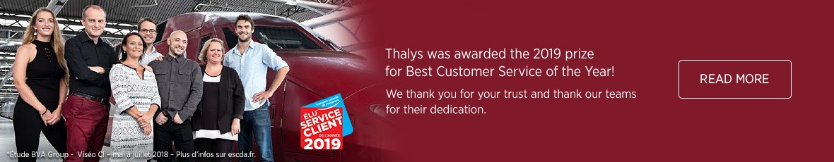 Thalys elected customer service of the year