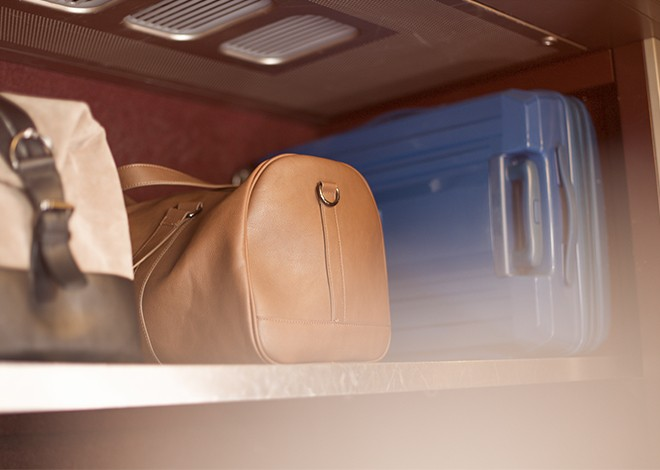 Valises dans le train Thalys