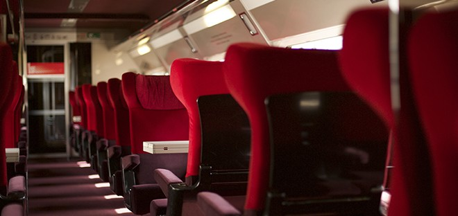 Inside a Thalys train