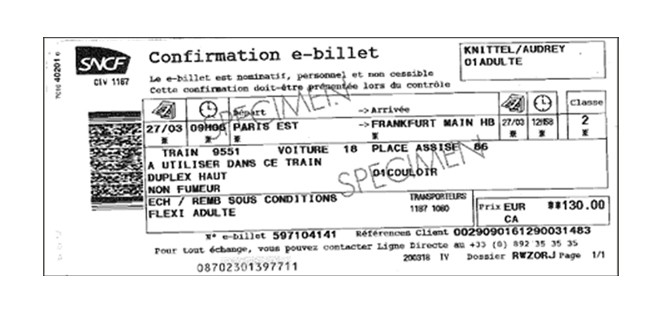 Exchange your ticket | Thalys