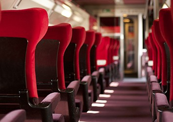 Inside of a Thalys train