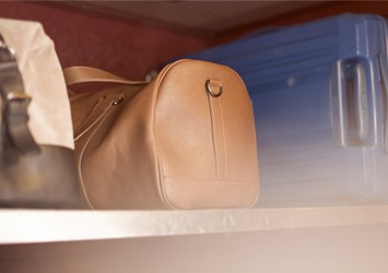 Suitcases on the Thalys train
